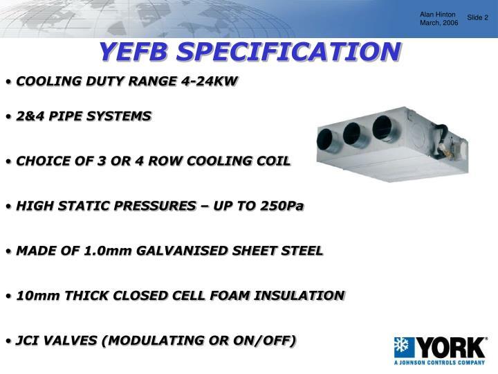 YEFB SPECIFICATION