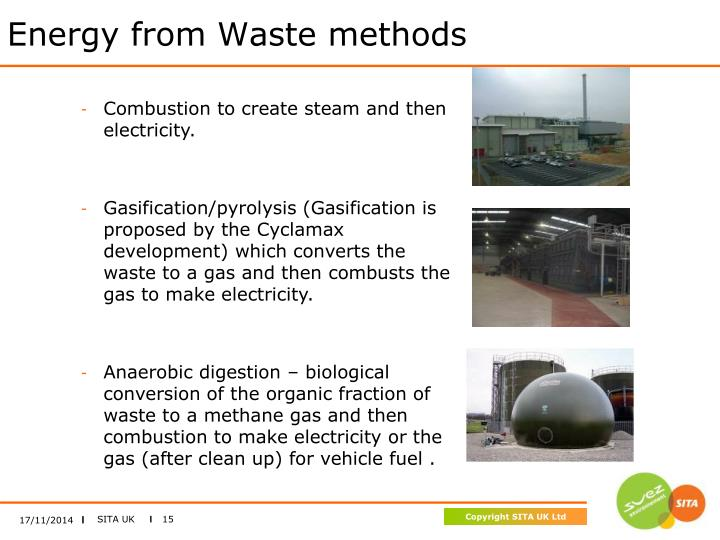 Energy from Waste methods