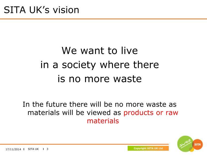 SITA UK's vision