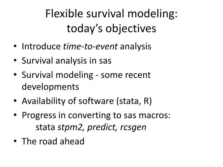 Flexible survival modeling: