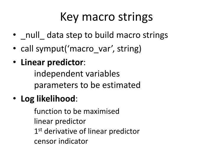 Key macro strings