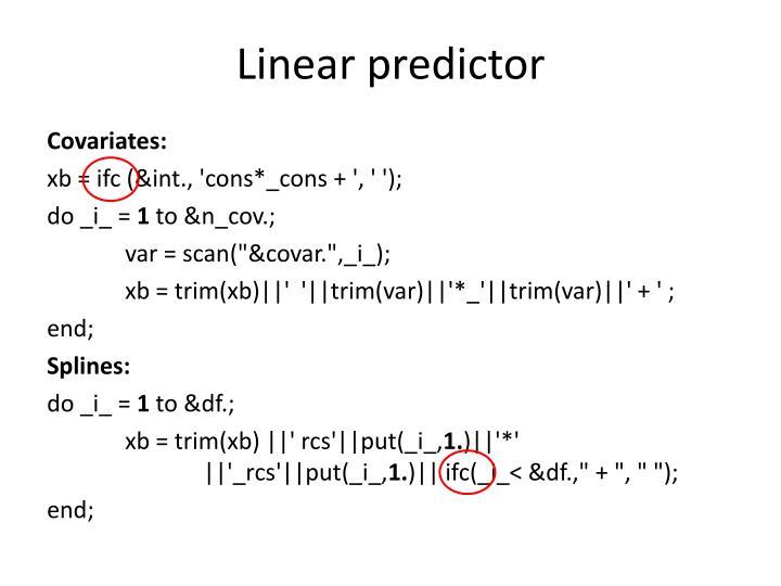 Linear predictor