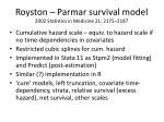 royston parmar survival model 2002 statistics in medicine 21 2175 2197