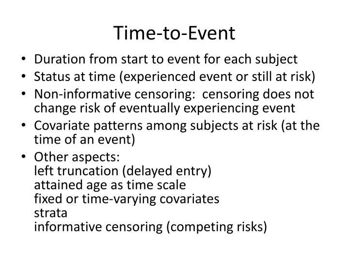 Time-to-Event