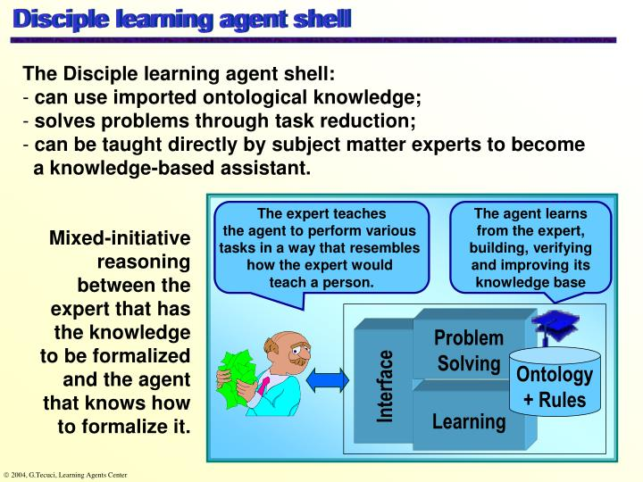 Disciple learning agent shell