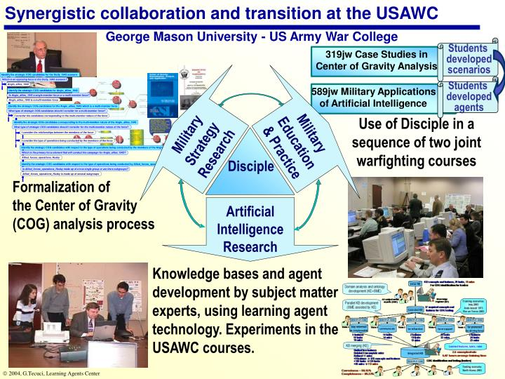 Synergistic collaboration and transition at the USAWC