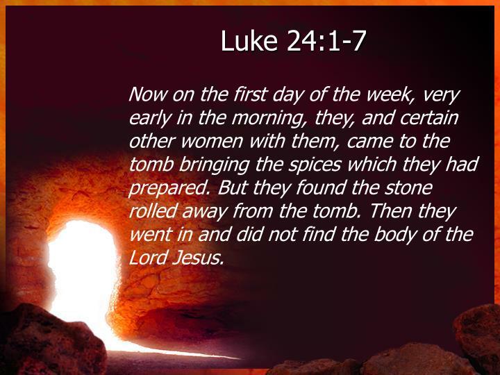 Luke 24:1-7