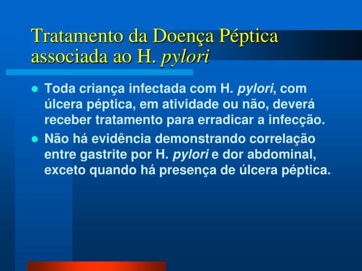 Tratamento da Doença Péptica associada ao H.