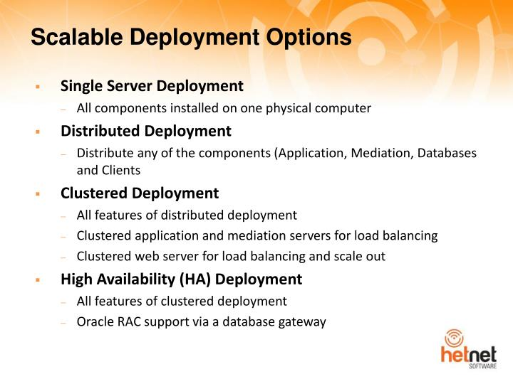 Scalable Deployment Options
