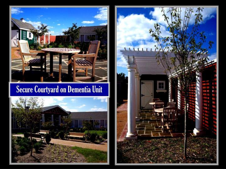 Secure Courtyard on Dementia Unit
