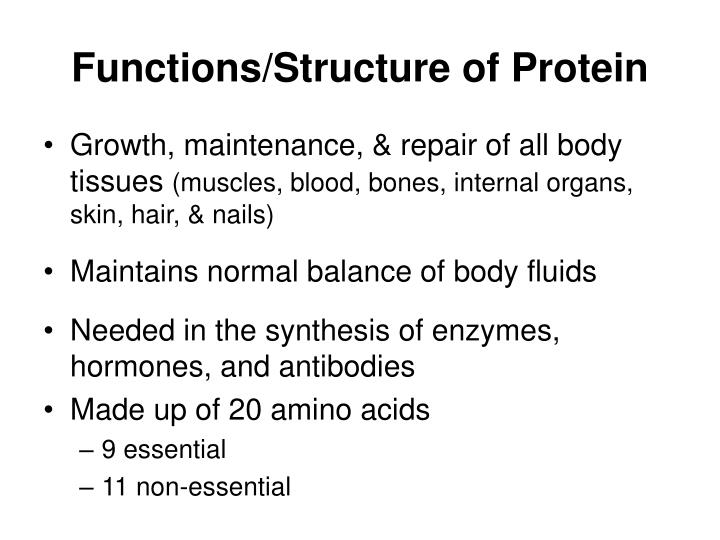 Functions/Structure of Protein