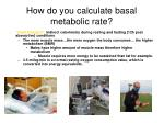 how do you calculate basal metabolic rate