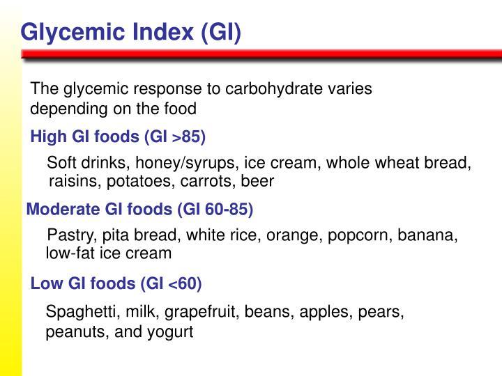 High GI foods (GI >85)