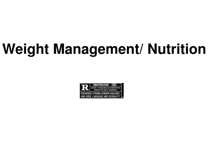weight management nutrition