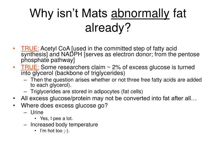 Why isn't Mats