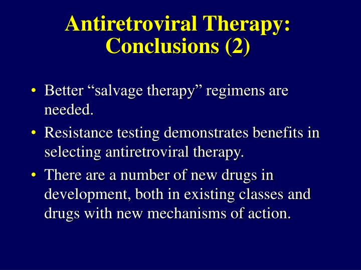 Antiretroviral Therapy: