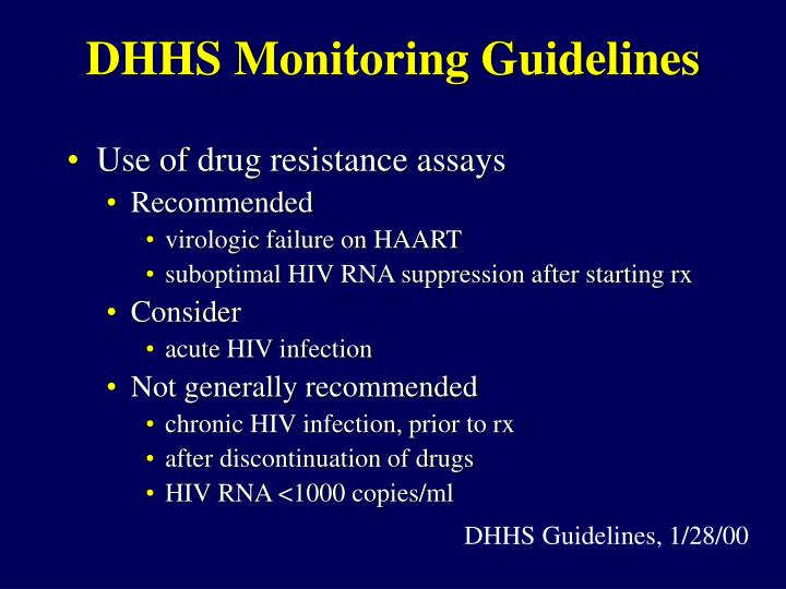 DHHS Monitoring Guidelines