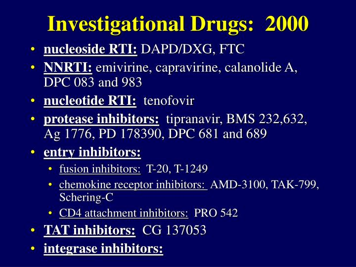 Investigational Drugs:  2000