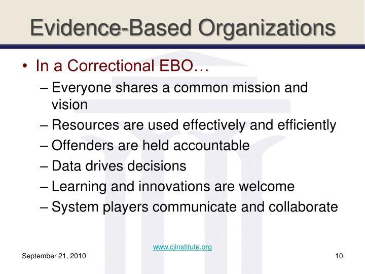 Evidence-Based Organizations