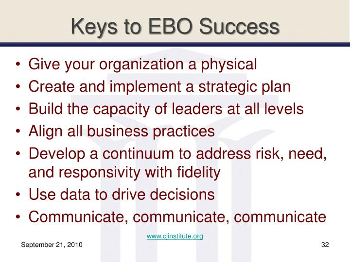 Keys to EBO Success