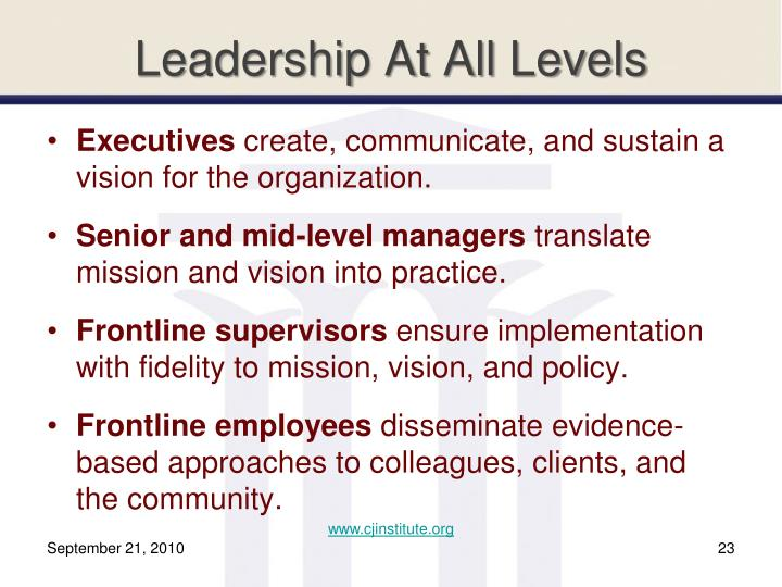 Leadership At All Levels
