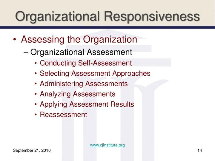 Organizational Responsiveness