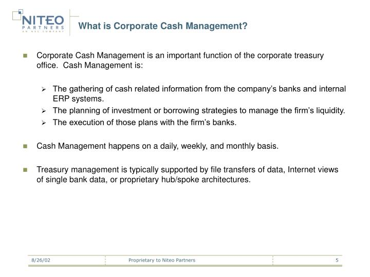 What is Corporate Cash Management?