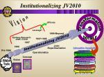 institutionalizing jv2010