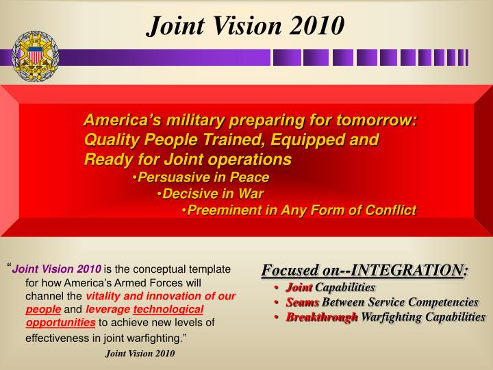 Joint Vision 2010