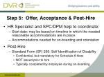 step 5 offer acceptance post hire