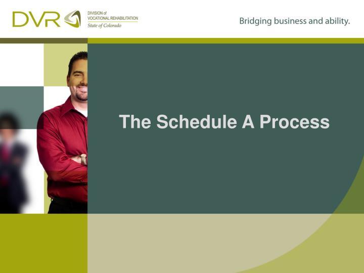 The Schedule A Process