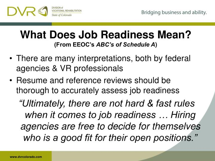 What Does Job Readiness Mean?