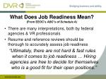 what does job readiness mean from eeoc s abc s of schedule a
