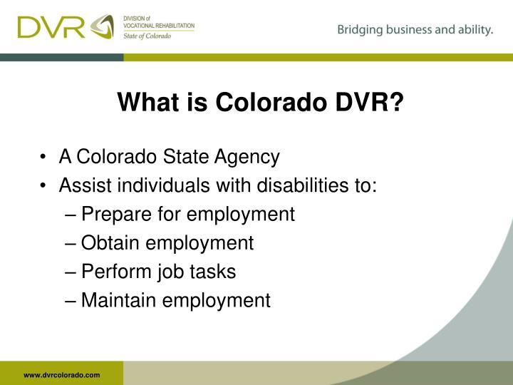 What is Colorado DVR?