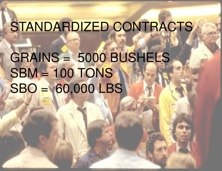 STANDARDIZED CONTRACTS