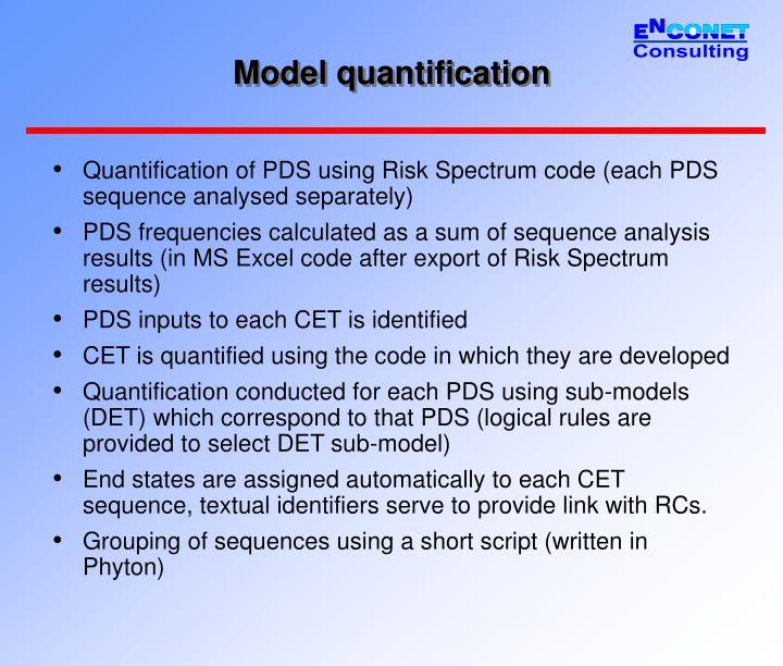 Model quantification
