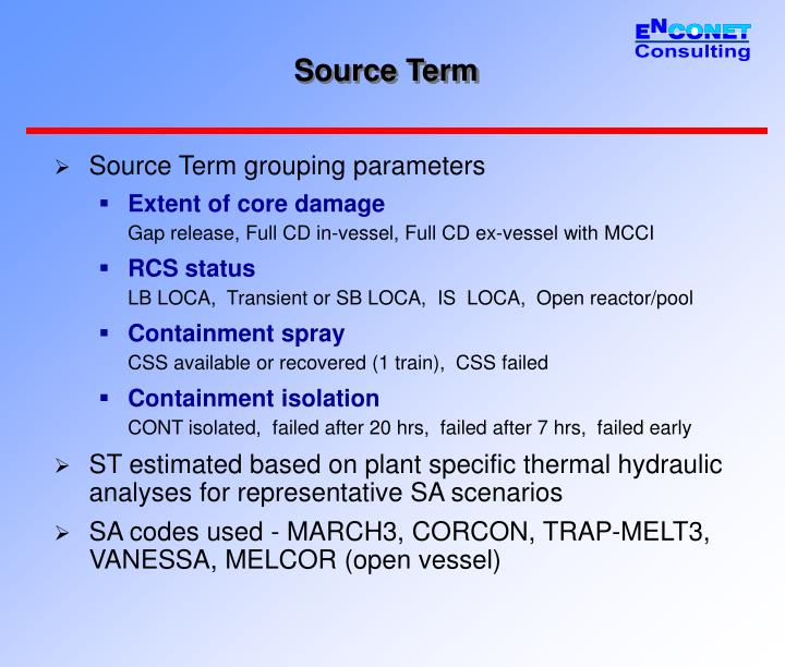 Source Term