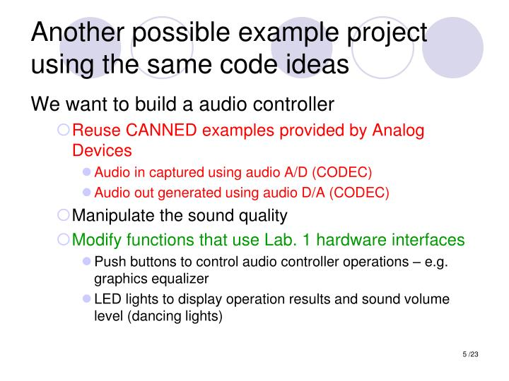 Another possible example project using the same code ideas