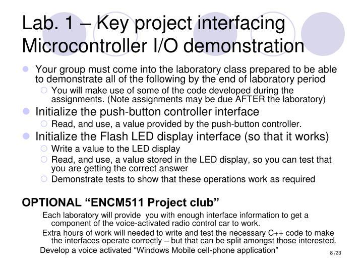 Lab. 1 – Key project interfacing