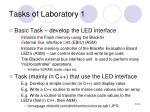 tasks of laboratory 1