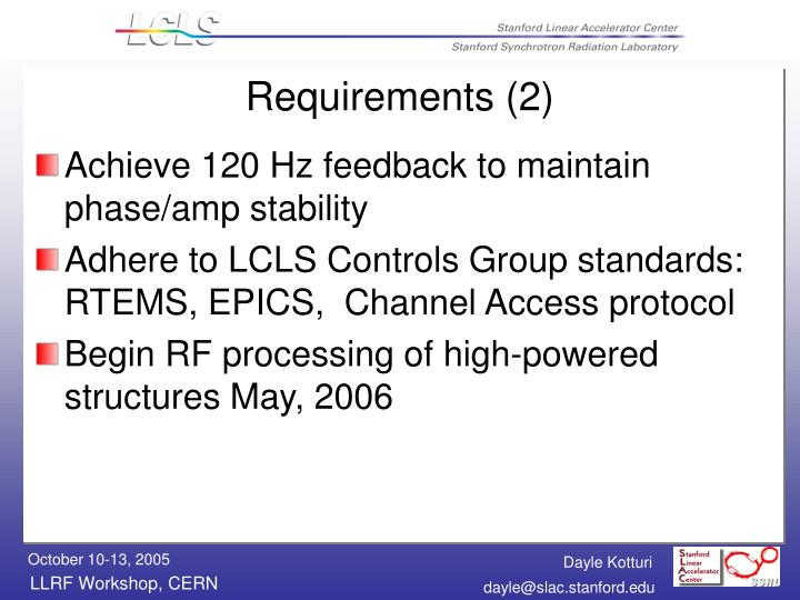 Requirements (2)
