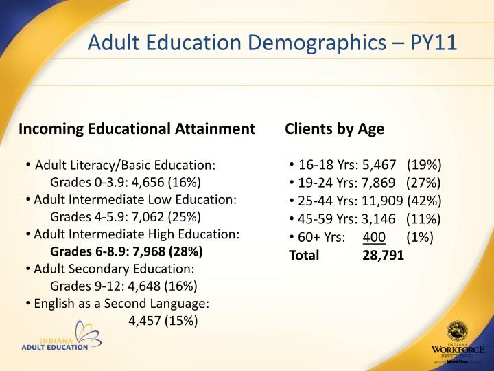 Adult Education Demographics – PY11
