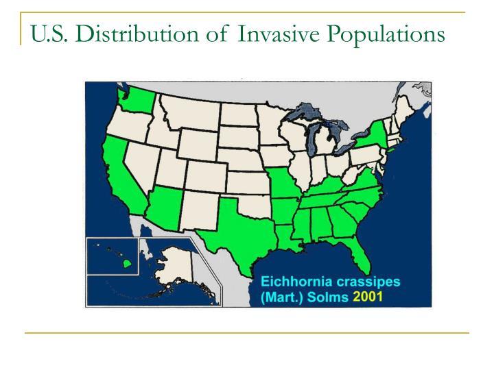 U.S. Distribution of Invasive Populations