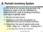 b periodic inventory system