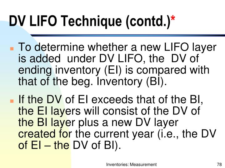 DV LIFO Technique (contd.)
