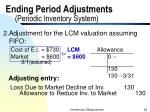 ending period adjustments periodic inventory system1