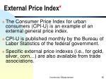 external price index