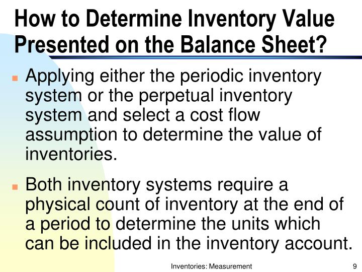 How to Determine Inventory Value Presented on the Balance Sheet?