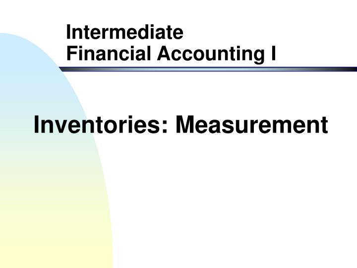 Inventories measurement
