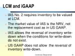 lcm and igaap